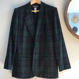 Vintage Oversized Plaid Blazer